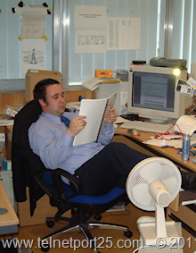 Me at my desk - back in the day!