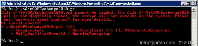Quick Tip – Running Exchange Based PowerShell script files